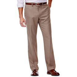Haggar Mens Elco Stretch Slim Fit Plaid Pants