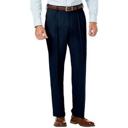 Haggar Mens J.M. Sharkskin Pleated Dress Pants