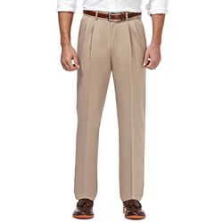 Haggar Mens Premium No Iron Pleated Pants