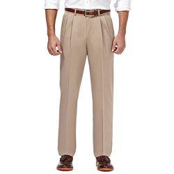 Haggar Mens Premium No Iron Pleated Pants
