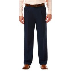 Haggar Mens Cool 18 Pro Pleated Pants