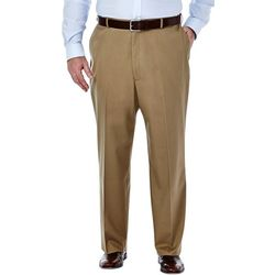 Haggar Mens Big & Tall No Iron Flat Front Pants