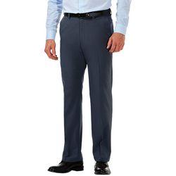 Haggar Mens Cool 18 Pro Heathered Classic Fit Pants