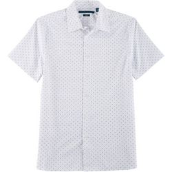Perry Ellis Mens Slim Fit Button Down Short Sleeve Shirt