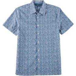 Perry Ellis Mens Paisley Button Down Short Sleeve Shirt