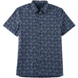 Perry Ellis Mens Mandala Button Down Short Sleeve Shirt