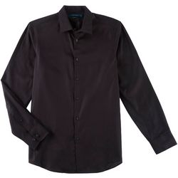 Perry Ellis Mens Slim Fit Button Down Long Sleeve Shirt