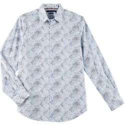 Perry Ellis Mens Floral Button Down Long Sleeve Shirt
