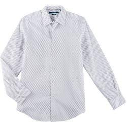Perry Ellis Mens Oval Print Button Down Long Sleeve Shirt