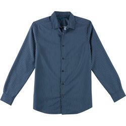 Perry Ellis Mens Arrow Tip Button Down Long Sleeve Shirt