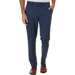 Perry Ellis Mens Plaid Performance Dress Pants