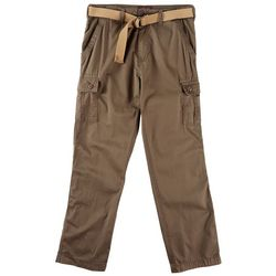 Wearfirst Mens Belted Stretch Cargo Pants