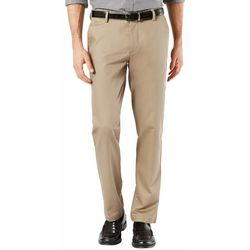 Dockers Mens Signature Slim Fit Lux Flat Front Pants