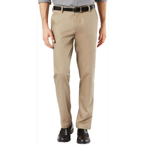 2ca511cfe59 Dockers Mens Signature Slim Fit Lux Flat Front Pants
