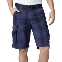 Lee Mens Dungarees Wyoming Plaid Cargo Shorts