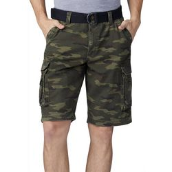 Lee Mens Dungarees Belted Wyoming Camo Cargo Shorts