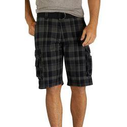 Lee Mens Wyoming Dark Plaid Cargo Shorts