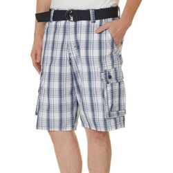 Lee Mens Wyoming Plaid Print Cargo Shorts