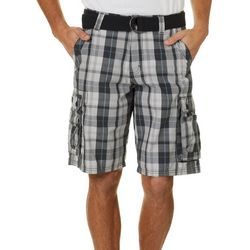 Lee Mens Wyoming Plaid Cargo Shorts