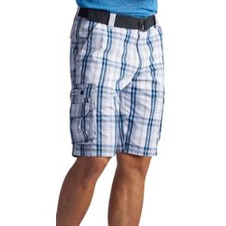 Lee Mens Wyoming Connor Plaid Cargo Shorts