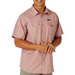 Wrangler Mens Flat Pocket Short Sleeve Shirt