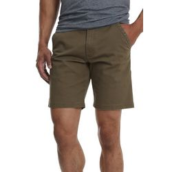 Wrangler Mens Flat Front Stretch Twill Shorts
