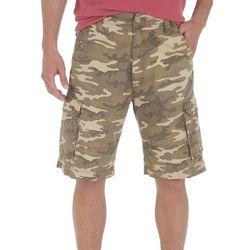 Wrangler Mens Camo Clearwater Cargo Shorts