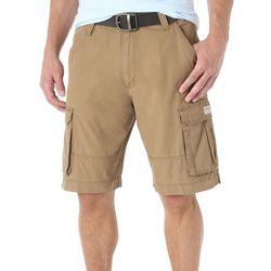 Wrangler Mens Solid Clearwater Cargo Shorts