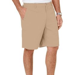 Boca Classics Mens Solid Stretch Cell Pocket Twill Shorts