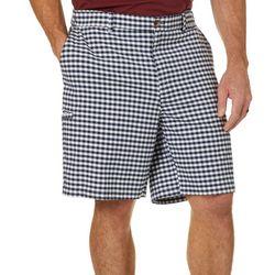 Boca Classics Mens Gingham Print Cell Pocket Shorts