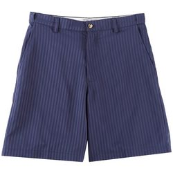 Windham Pointe Mens Stripe Flat Front Shorts