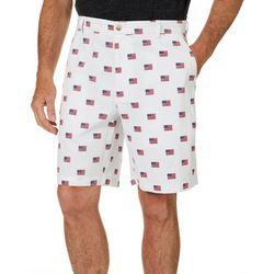 Boca Classics Mens Flag Print Cell Pocket Shorts