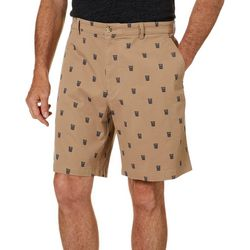 Boca Classics Mens Tiki Print Cell Pocket Shorts