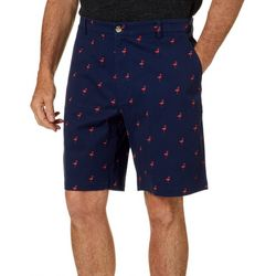 Boca Classics Mens Flamingo Print Cell Pocket Shorts