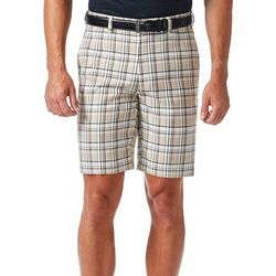 Haggar Mens Cool 18 Stone Plaid Shorts