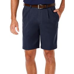 Haggar Mens Cool 18 Pro Pleated Shorts