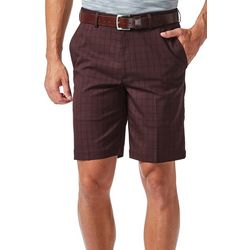 Haggar Mens Cool 18 Pro Graphic Windowpane Shorts