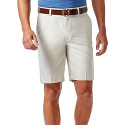 Haggar Mens Cool 18 Light Check Shorts