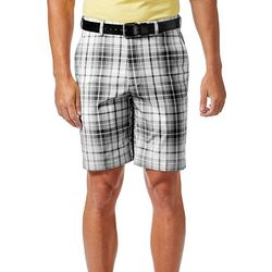 Haggar Mens Cool 18 Pro Tonal Plaid Shorts