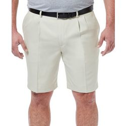 Haggar Mens Big & Tall Performance Pleated Microfiber Shorts