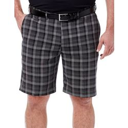 Haggar Mens Big & Tall Cool 18 Pro Madras Plaid Shorts