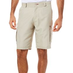 Burnside Mens Heather Microfiber Cargo Shorts