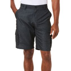Burnside Mens Mini Plaid Microfiber Cargo Shorts