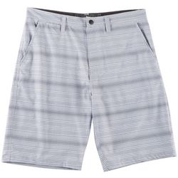 Distortion Mens Horizontal Stripe Hybrid Shorts