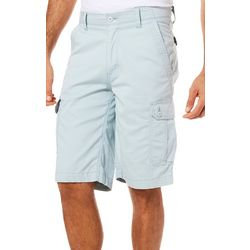 Wearfirst Mens Free-Band Stretch Birds Eye Cargo Shorts