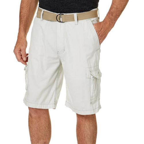 a34b0b02a3 Wearfirst Mens Solid Ripstop Belted Cargo Shorts   Bealls Florida