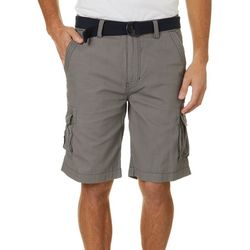 Wearfirst Mens Cotton Ripstop Belted Cargo Shorts