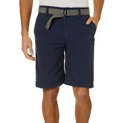 Wearfirst Mens Belted Solid Shorts
