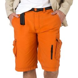 Wearfirst Mens Rubber Zipper Cargo  Shorts