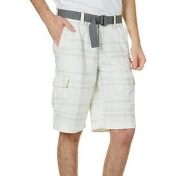 Wearfirst Mens Belted Kalua Plaid Cargo Shorts